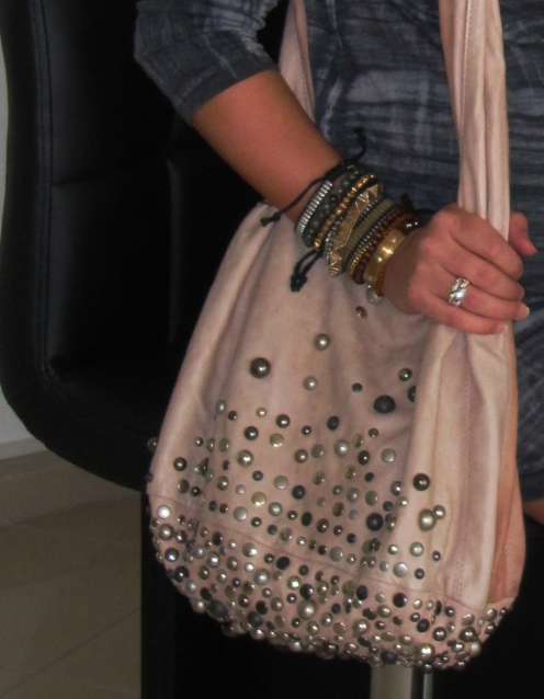 Studded Hobo bag by Sara Berman