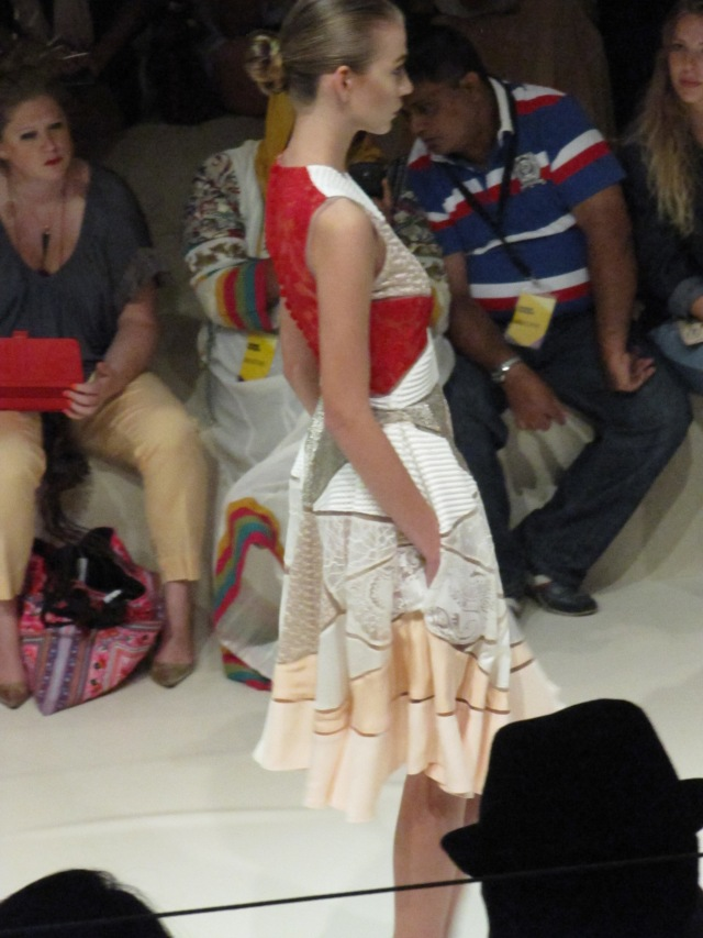 BasharAssafFashionForwardShowPatchworkDress