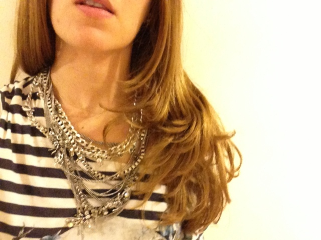 Multi-chain grunge necklace by Zara